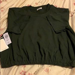 Wilfred cropped green tee XS...nwt
